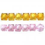 Pärl-pärlis tahulised kuubikukujulised klaasjad akrüülhelmed 8mm
