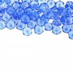 Lapik ümmargune tahuline kristall 6,5x3mm