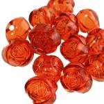 Roosiõiekujuline ümmargune kristall 15x12mm