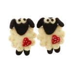 Nepaali lambavillast käsitsi vilditud lambad, 6,5 cm x 5 cm, 2 tk, Habico