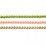 Ümarad värvilised plasthelmed ø3mm