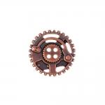 Metallist, hammasrattakujuline, nelja auguga nööp, 23mm/36L