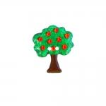 Õunapuu kujuline, kahe auguga plastiknööp, 30x25mm/48L