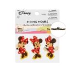 3D kannaga dekoratiivnööbid Minnie Mouse, max 3,5 cm, 3 tk, Dress It Up #7717 (USA)