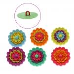 3D kannaga dekoratiivnööbid, max 2,2 cm, 6 tk, Dress It Up #5385 (USA)