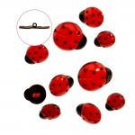 3D Button 10 pcs set, max 2,5 cm, Dress It Up #1134 (USA)