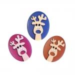 Plastic Button 30 x 23 mm, size: 48L