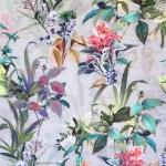Troopiliste lilledega, siidi-, puuvillasegu kangas (Cotton silk digital print), 125cm, PC1606