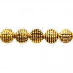 Metallhelmes antiikse reljeefse mustriga 8mm