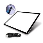 Valoalusta, valopöytä, erittäin ohut ja kevyt, säädettävä LED-taustavalo, mitat A4 ja A3
