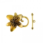 Toggle Clasp with Flower Design / 25 x 30mm