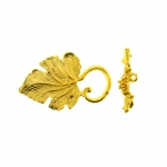 Toggle Clasp with Leaf Design / 36,5 x 22mm