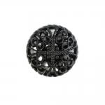Pitsiline, õhuline, ümar, kannaga metallnööp, 23mm; 36L