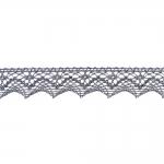 Decorative Metallic Lace KN-0690, 2,5 cm