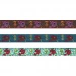 Roosiõitega dekoratiivpael laiusega 15 mm, Art. 22109