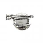 Kettakujuline prossitoorik kaks-ühes, klambri ja nõelaga / 2-Eyelet Round Clip-On Brooch Base / 30mm