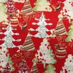Puuvillane kangas jõulukuuskedega, Art.123.974