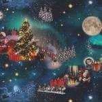 Tugevam puuvillane kangas prinditud jõuluaja mustriga Art. BB91299-51