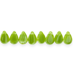 Teardrop-shaped faceted glass beads, Preciosa (Czech), 12.5x8mm