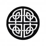 Triigitav Aplikatsioon; Ümaral taustal ornament 8cm
