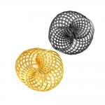 Metallist põimingdetail, Twisted Metal Spiral Charm, 22 x 21mm