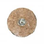 Suur reljeefse mustriga, metallkannaga puitnööp, 30mm, 48L