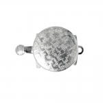 Round Box Clasp with Antique Pattern, 21 x 14mm