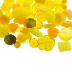 Pärlisegu Kollastes toonides eri suurusega pärlitest 5-20mm, 100/50g pakk