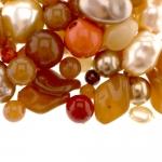 Pärlisegu Pruunikas-kreemikates toonides eri suurusega pärlitest 5-20mm, 100/50g pakk