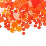 Pärlisegu Helepunastes toonides lillekujulistest pärlitest 4-8mm, 100/50g pakk