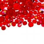 Pärlisegu punastest ümaratest AB-kattega pärlitest 6-14mm, 100/50g pakk
