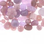 Pärlisegu õrn helelillades toonides, pärlitest 7-17mm, 100/50g pakk