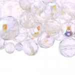 Pärlisegu värvitutest AB-kattega ümaratest pärlitest 6-16mm, 100/50g pakk