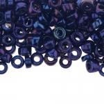 Pärlisegu Tumesinistes toonides pärlitest AB-kattega 6-7,5mm, 100/50g pakk