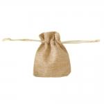Linasest kangast kinkekott, 10 x 8cm