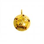 Reljeefse lillemustriga, metallist kuljus, 17 x 12 x 11mm