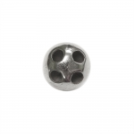 Metallist, needitaoline, alt nelja auguga nööp, 12mm, 18L