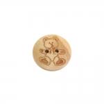 Karupildiga, kahe auguga puitnööp, 18mm, 28L