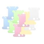Läbikumavast plastikust niidi-, lõngapoolid, 10 tk, 3,8 x 3,5 cm, KL1776