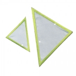 Iron-on Reflective Patch; 2 triangles, MonoQuick No.10004