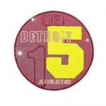 Helkur-aplikatsioon, triigitav; Detroit Athletic ø8,2 cm, Mono Quick, #11