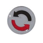Iron-on Reflective Patch; ø4,5 cm