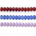 Round faceted glass beads, Jablonex (Czech), 6x4mm