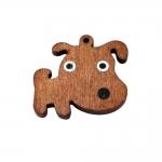 Koerakujuline puitdetail, aasaga ripats, 40 x 33 x 4 mm