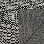 Geomeetrilise mustriga paksem veniv viskoosisisaldusega kangas, 160cm