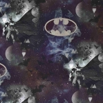 Puuvillane elastaaniga trikookangas, Batman, 128.471