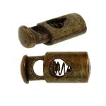 Metallinen nyörin stoppari, soikea kiristin 25 x 11 x 7 mm nyörille max. ø5 mm