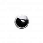 Metallinkaltainen muovinappi, kantanappi 13mm, (21L)