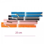 Metallivetoketjut, avoketjut, 4 mm kapea hammastus, pituus 25 cm