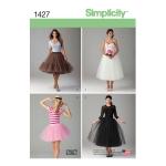 Naiste tüllseelik kolmes pikkuses, Simplicity Pattern #1427
